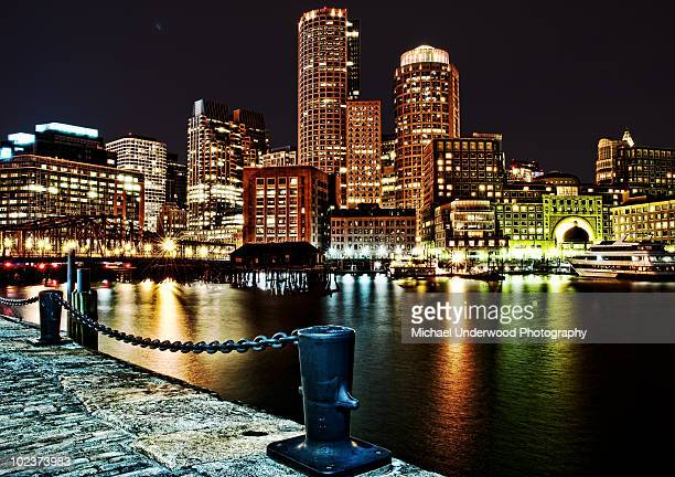Boston Waterfront at night