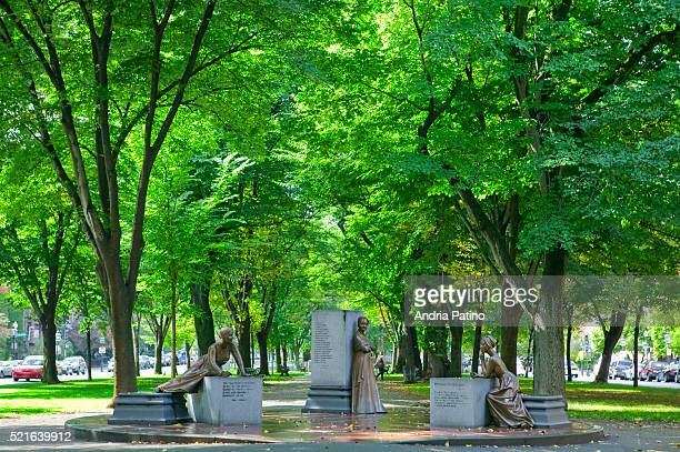 boston women memorial, at commonwealth avenue mall - abigail adams stock pictures, royalty-free photos & images