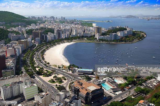 botafogo beach in rio de janeiro - botafogo stock photos and pictures