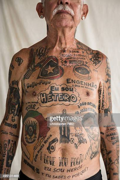 Botafogo FC fanatic covered in tattoos of the club
