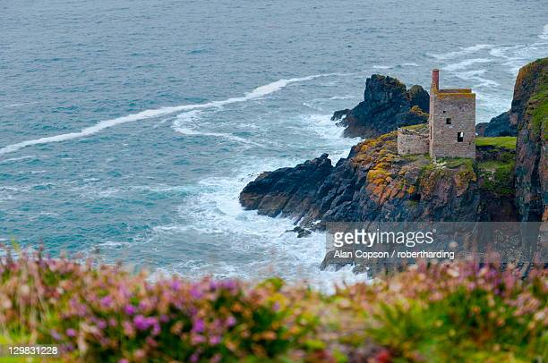 botallack mine, unesco world heritage site, cornwall, england, united kingdom, europe - alan copson stock pictures, royalty-free photos & images