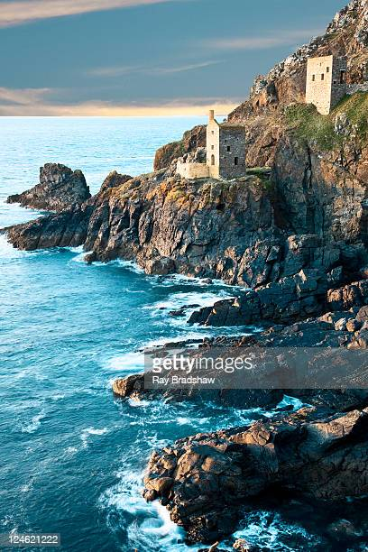 botallack tin mine north cornwall - cornwall england stock pictures, royalty-free photos & images