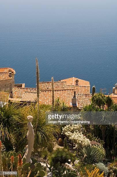 Botanic garden (Jardin Exotique), Eze village, Alpes Maritimes, Provence, Cote d'Azur, French Riviera, France, Mediterranean, Europe