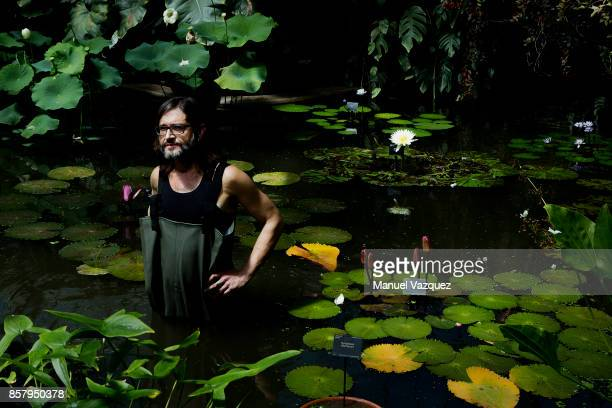 Botanical horticulturist in the tropical nursery at the Royal Botanic Gardens Carlos Magdalena is photographed for El Pais on July 5 2017 in London...