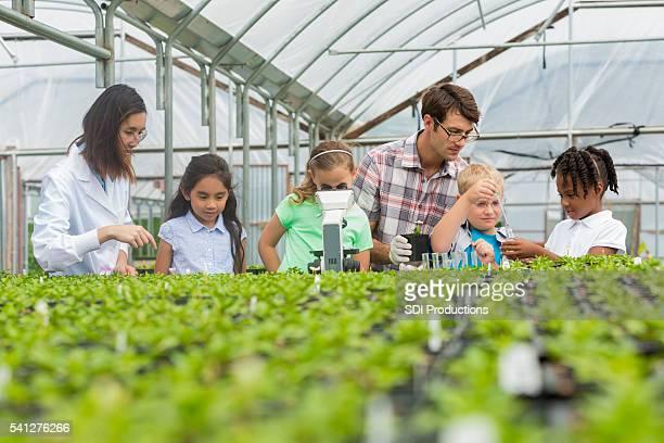 Botanist leads elementary school field trip
