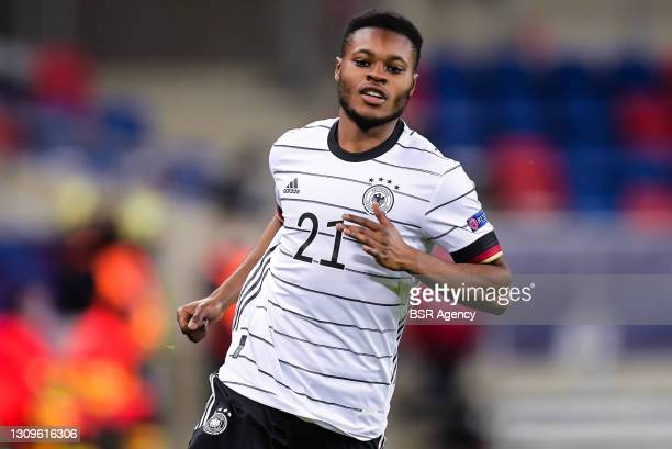 Bote Baku of Germany U21 during the UEFA Under 21 Euro Championship Group Stage match between Germany U21 and Netherlands U21 at Mol Arena Sosto on...