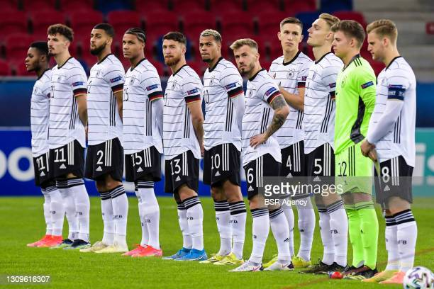 Bote Baku of Germany U21, Mergim Berisha of Germany U21, Josha Vagnoman of Germany U21, Ismail Jakobs of Germany U21, Salih Ozcan of Germany U21,...
