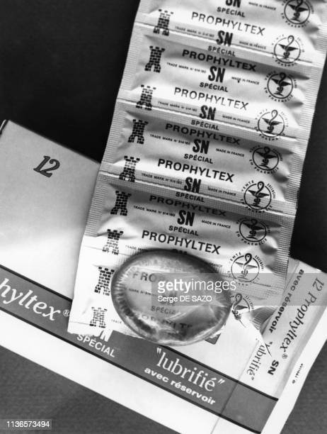 Boîte de préservatifs, France.