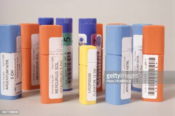 Boîtes de médicaments homéopathiques en France