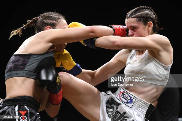 Both Antonina Shevchenko and Claire Baxter make contact within close quarters Antonina Shevchenko takes on Claire Baxter in a Womens Super...