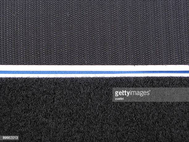 both parts of a black velcro strip side by side - nylon fastening tape stock photos and pictures