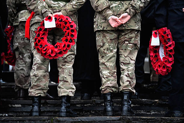 Both serving and former commandos gather during the Commando Memorial Service commemorate and pay respect to the sacrifice of service men and women...