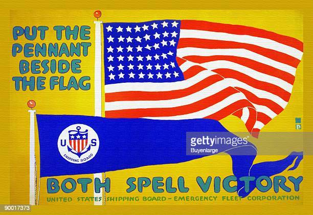 Both spell victory a poster by the United States Shipping Board Emergency Fleet Corporation
