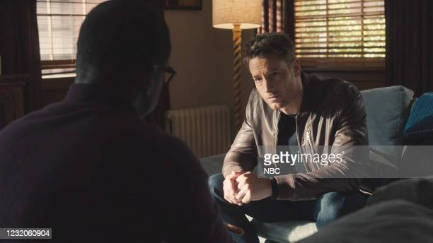 """Both Things Can Be True"""" Episode 512 -- Pictured in this screengrab: Sterling K. Brown as Randall, Justin Hartley as Kevin --"""