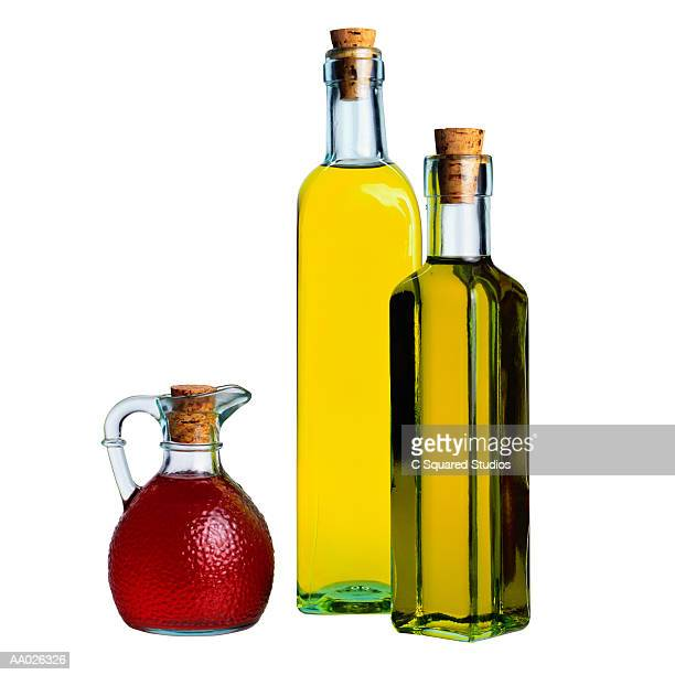Botlles of Olive Oil and Vinegar