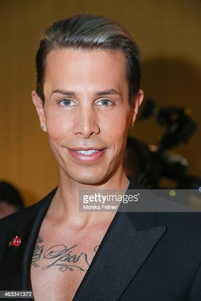 Botox Boy Florian Wess attends the Champagne And Oyster Reception in Hotel Le Meridien on February 12 2015 in Vienna Austria