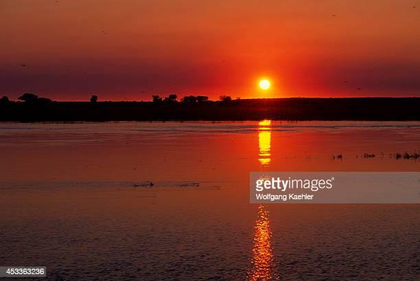 Botswana Chobe National Park Chobe River Sunset