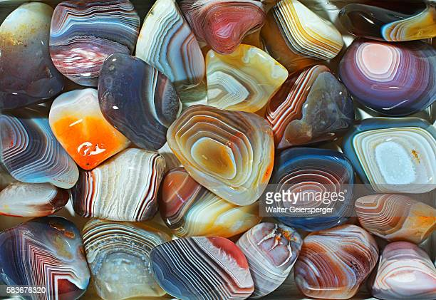 botswana-agate, mineral - agate stock pictures, royalty-free photos & images