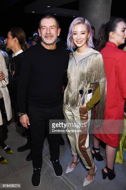 Bottega Veneta Creative Director Tomas Maier and Irene Kim attend the Bottega Veneta Fall/Winter 2018 fashion show at New York Stock Exchange on...