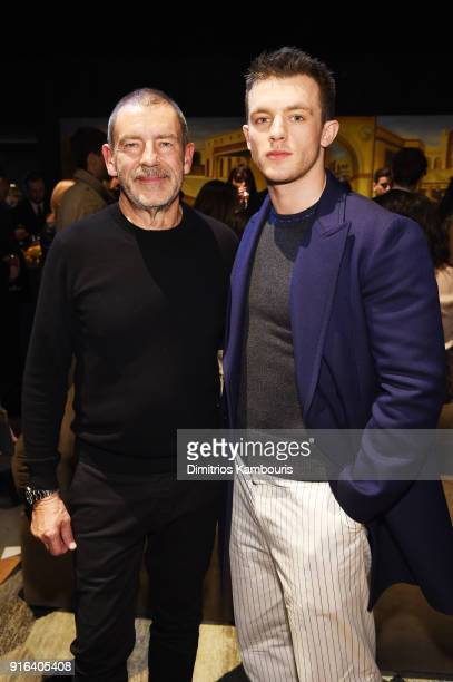 Bottega Veneta Creative Director Tomas Maier and Jannis Niewohner attend the Bottega Veneta Fall/Winter 2018 fashion show at New York Stock Exchange...