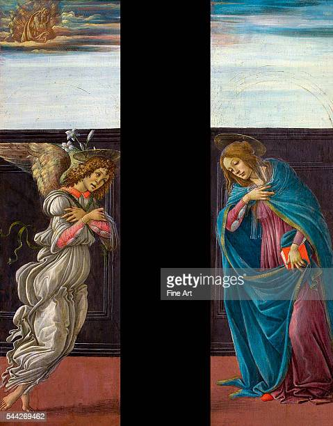 Botticelli Annunciation 14958 tempera on panel 45 x 13 cm Pushkin Museum Moscow
