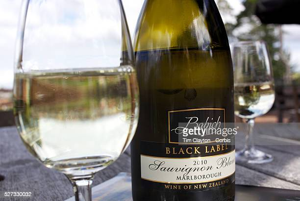 A bottle and glass of wine at Babich Winery Auckland New Zealand 12th November 2010 Photo Tim Clayton