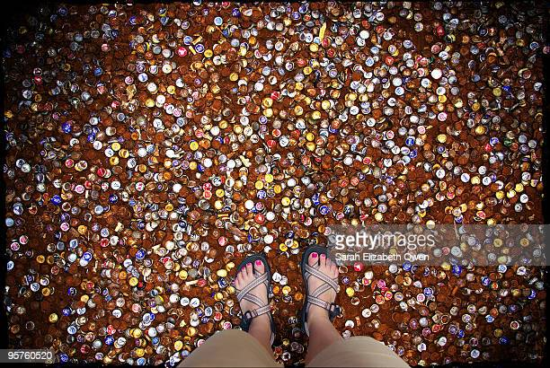 Bottle Cap Alley with feet