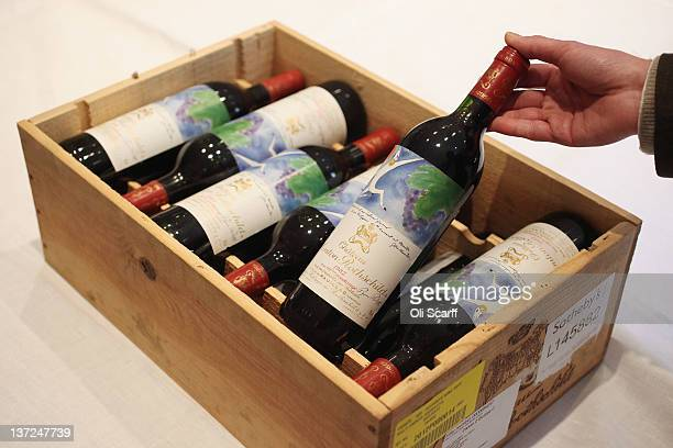 A 12 Bottle Case Of Chateau Mouton Rothschild From 1982 In Sothebys Auction House On January