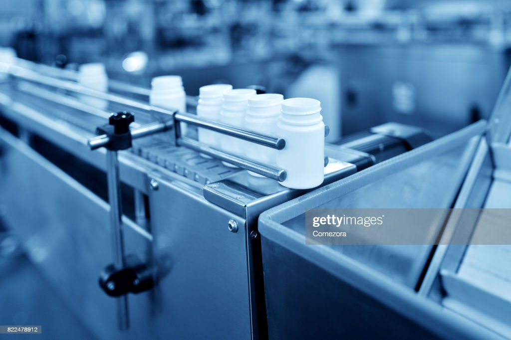Bottle Filling Production Line : Stock Photo