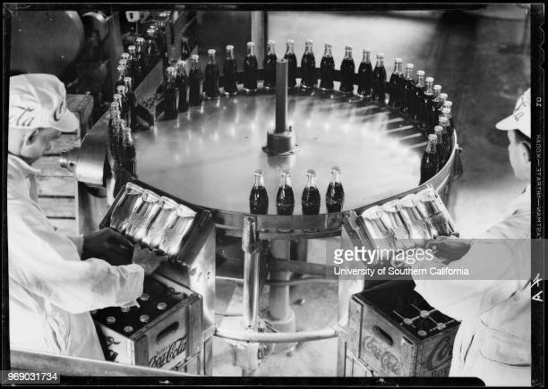 Bottle inspection operations Coca Cola plant Southern California 1933