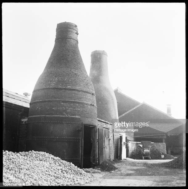 Bottle kilns, Joiner's Square Mill, Hanley, Stoke-on-Trent, Staffordshire, 1965-1968. The bottle kilns at Joiner's Square Mill, adjacent to the...