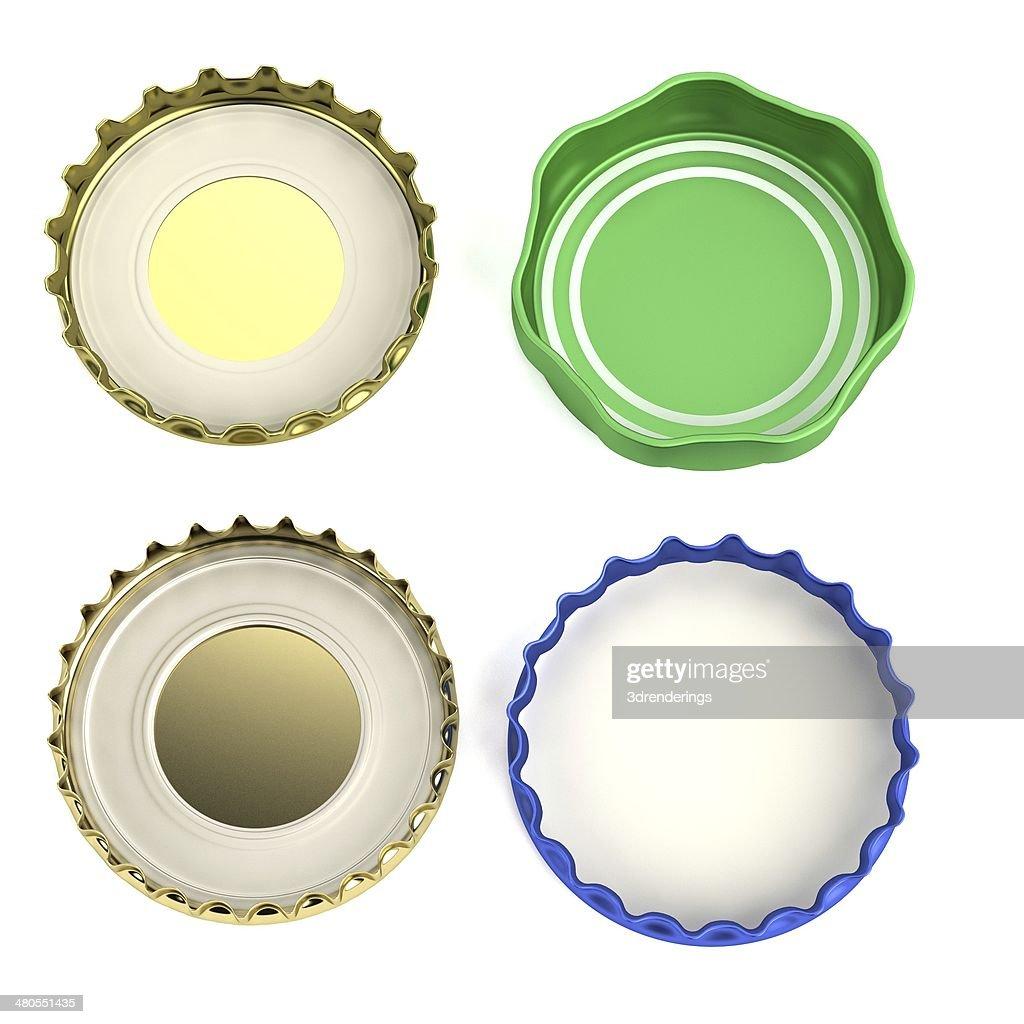 bottle lids : Stock Photo