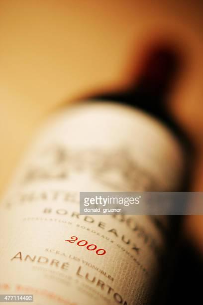 Bottle of 2000 vintage Bordeaux wine