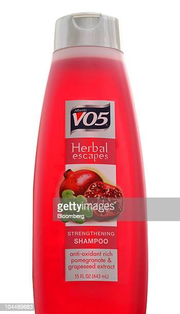 A bottle of Alberto Culver Co's VO5 Herbal Escape shampoo is arranged for a photo in Melrose Park Illinois US on Monday Sept 27 2010 Unilever the...