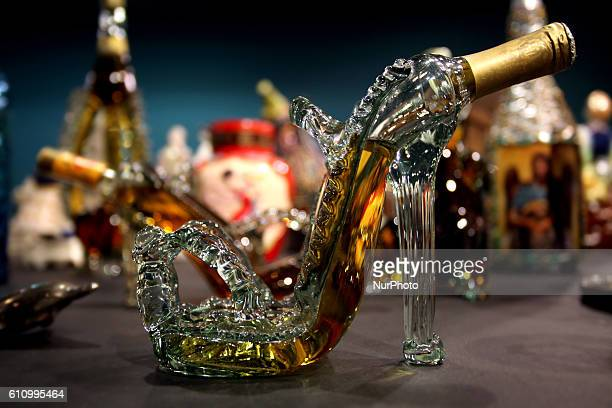 Bottle of alcohol in the form of womens shoe. Kitsch, vintage and quirky items from Thessalonikis mayor Yiannis Boutaris personal collection, Athens,...