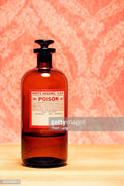 bottle of arsenic - toxin stock pictures, royalty-free photos & images