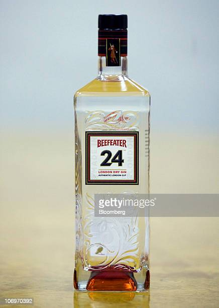 A bottle of Beefeater 24 gin sits on display at the Pernod Ricard SA bottling plant in Dumbarton UK on Friday Nov 19 2010 Pernod Ricard SA the...