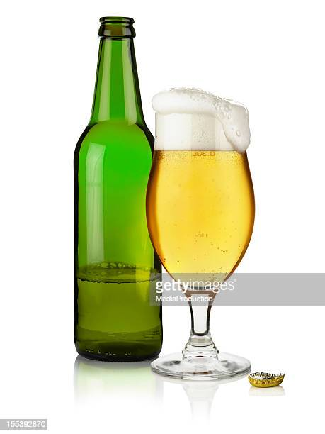 Bottle of Beer with and  full glass