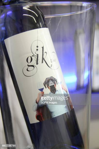 A bottle of blue wine pictuered Gik Blue Wine is the first Blue wine in the world is Produced in Bilbao Spain Gik Blue combines red and white grapes...