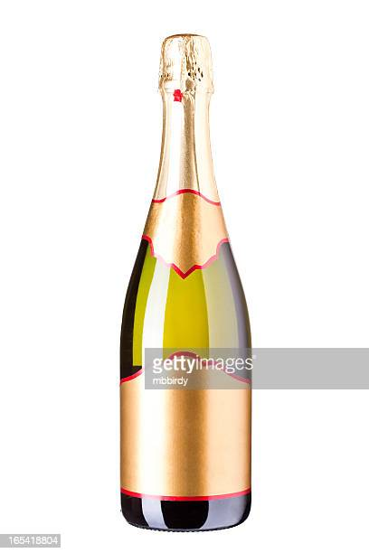 Bottle of Champagne wine, isolated (clipping path)