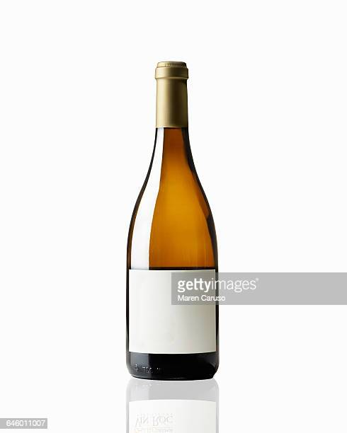 Bottle of chardonnay white wine