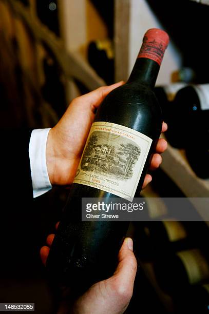 Bottle of Chateau Lafite Rothscild 1945.