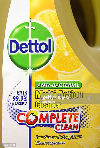 A bottle of Dettol cleaner sits displayed on a shelf at the Reckitt Benckiser Plc headquarters in Slough UK on Wednesday June 30 2010 Reckitt...
