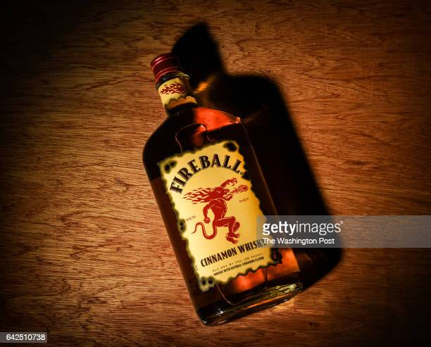A bottle of Fireball cinnamon whisky rapidly becoming a most popular choice on February 2017 in Washington DC