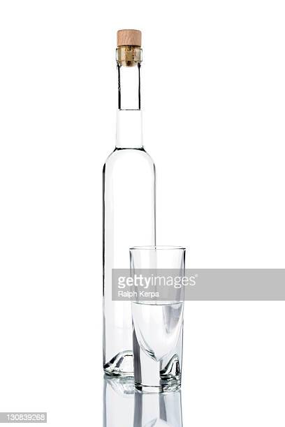 Bottle of Grappa with a glass