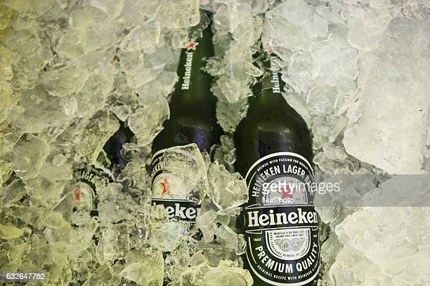 A bottle of Heineken beer in the city of Vitoria do Espirito Santo southeast Brazil on January 24 2017 Heineken recently announced that it is in...