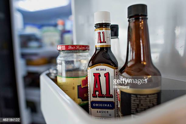 A bottle of Kraft Foods Group Inc A1 steak sauce is arranged for a photograph in Tiskilwa Illinois US on Tuesday Feb 10 2015 Kraft Foods Group Inc is...