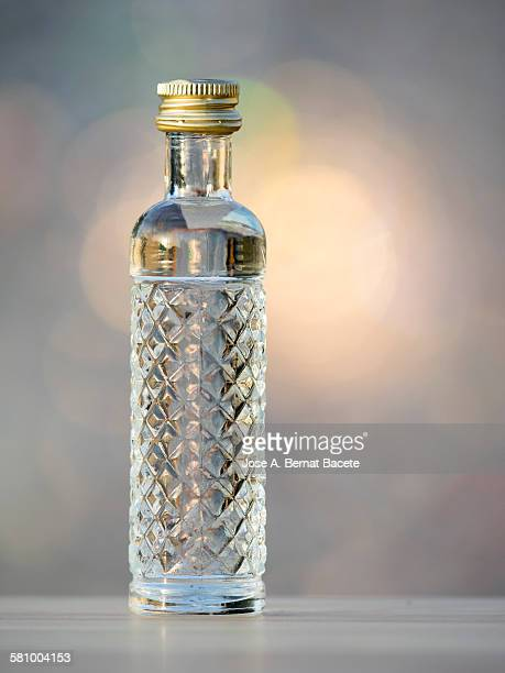 bottle of liquor of anise - liqueur stock pictures, royalty-free photos & images