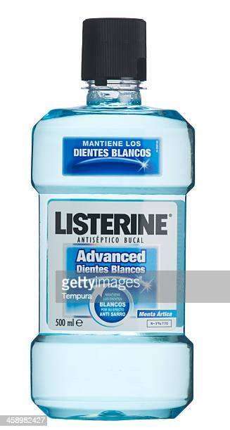 Bottle of Listerine antiseptic mouth wash.