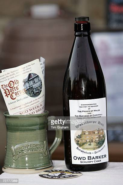 A bottle of locally produced scrumpy cider in the village of Ashover on December 8 2006 in Ashover England